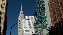 New York City 549 Chrysler Building seen from Lexington Avenue Footage