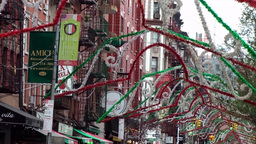 New York City 505 Festa di San Gennaro in downtown Little Italy Footage