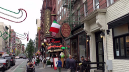 New York City 506 ice cream parlor in downtown Little Italy Footage