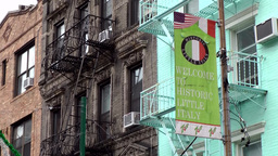 New York City 501 Typical Facades In Historic Little Italy stock footage