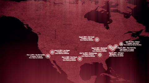 4K Map of Major Terrorist Attacks in the USA between 2000-2016 11 画像
