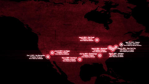4K Map of Major Terrorist Attacks in the USA between 2000-2016 12 Image