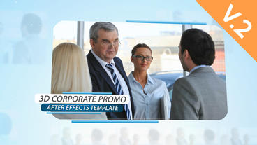 3d Corporate Promo (V.2) - After Effects Template stock footage