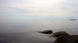 surface of North sea in dead calm - rare idyll Footage