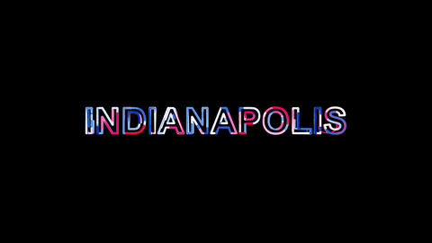 Letters are collected in city INDIANAPOLIS, then scattered into strips. Bright Animation