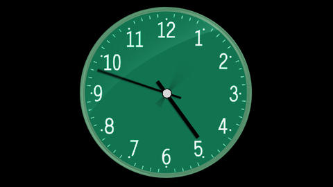 Classic Clock With Digital Screen Passing 12 Hours Image
