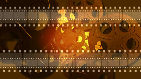 Abstract film reel looping motion background Footage