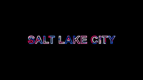 Letters are collected in city SALT LAKE CITY, then scattered into strips. Bright Animation