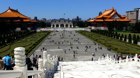 Chiang Kai-shek Memorial Hall Taipei Taiwan(4K) Footage