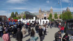 Amsterdam / Netherlands - April 31, 2017 : People walking around the I Amsterdam Footage