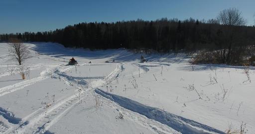 Entertainment on snowmobiles Footage