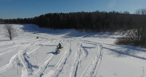 Entertainment on snowmobiles 2 Footage