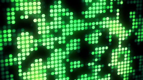 Green Glowing Neon Hexagons Abstract Motion Background VJ Loop Animation