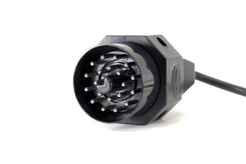 Cable connector for computer diagnostics of a car Fotografía