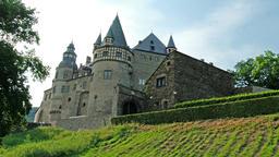 WIERSCHEM / GERMANY - JULY 03 2017: Castle Buerresheim in the German region Footage