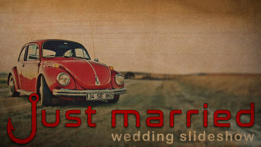 Just Married (wedding slideshow) Apple Motionテンプレート
