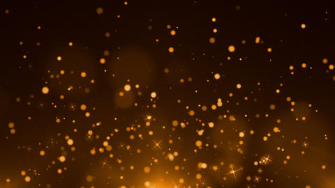 Gold Particles Background GIF