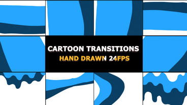 Dynamic Cartoon Transitions 24 fps Premiere Proテンプレート