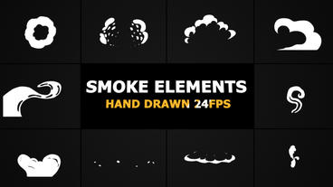 2D FX SMOKE Elements Premiere Pro Template