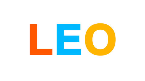 constellation of a LEO from letters of different colors… Stock Video Footage