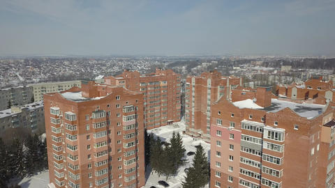 View from the height of the sleeping area of the city. Social housing Archivo