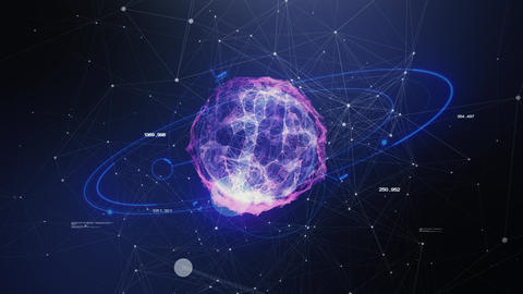 Abstract world of space in the form of plexus Videos animados