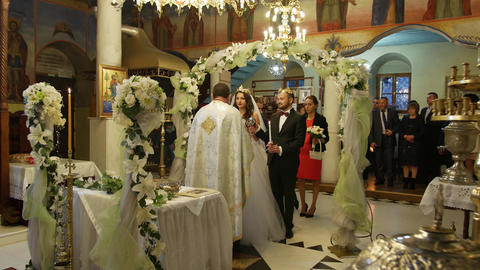 Wedding rituals in Orthodox church Live Action