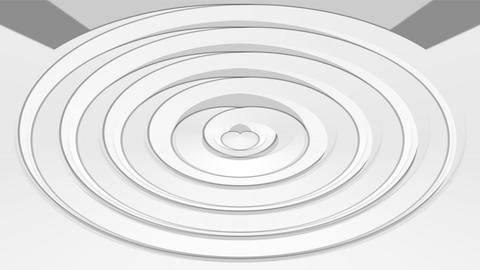 Low contrasting animation, white and gray oval element on light gray background. Image