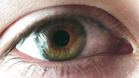 Man iris eye close up Footage