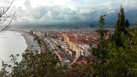 Aerial View of The City of Nice French Riviera Archivo