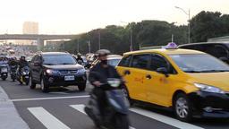 Rush hour traffic central Taipei Taiwan Footage