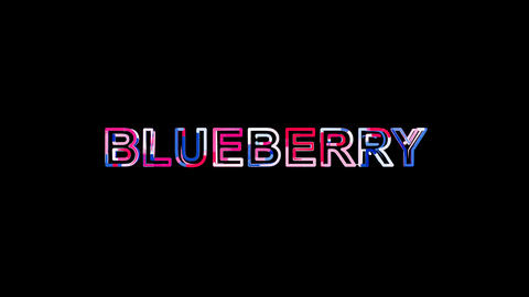 Letters are collected in fruit BLUEBERRY, then scattered into strips. Alpha Animation
