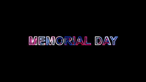 Letters are collected in celebration MEMORIAL DAY, then scattered into strips Animation