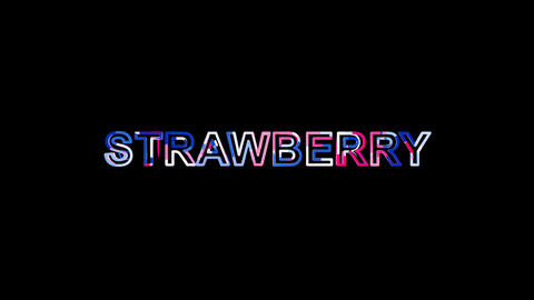 Letters are collected in fruit STRAWBERRY, then scattered into strips. Alpha Animation