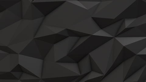 Gray abstract low poly triangle background Animation