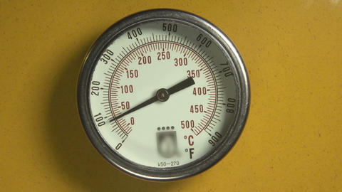 Industrial thermometer with moving indicator Footage