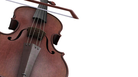 CG animation violin on a white background Animation