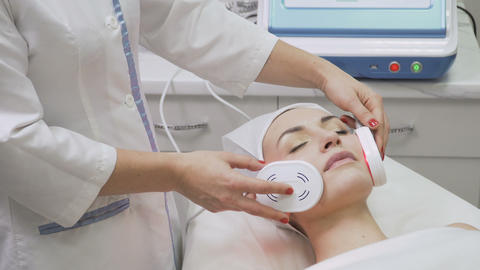 Infrared procedure in beauty clinic Footage