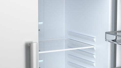 Empty side by side fridge Animation