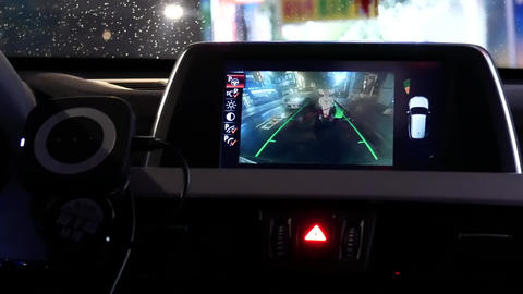 Motion of malfunction indicator light is blinking on dashboard with blur motion Live Action