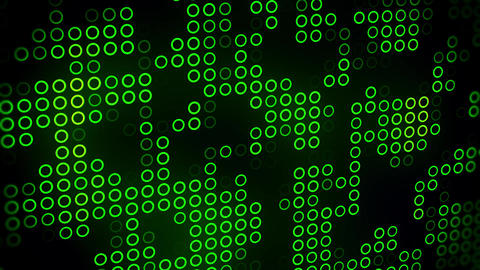 Green Abstract Circles VJ Loop Motion Background Backdrop Animation