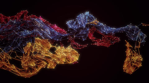 Abstract particle mesh Live Action