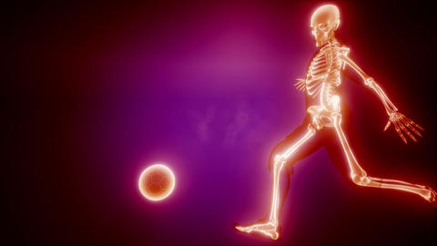soccer player with visible bones ビデオ