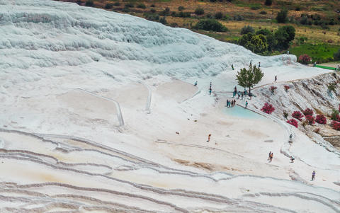 minerals in Pamukkale Photo