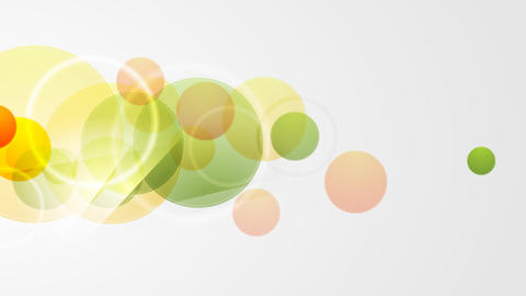 Abstract green and orange circles video animation Animation