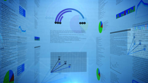 growing and changing graphs. 3d animation Animation