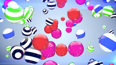 Abstract background with rotating multi-colored balls Animation