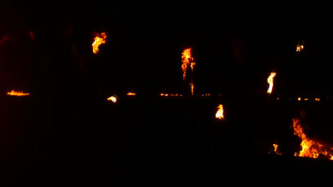 Night youth festival, jugglers with fire Footage