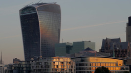 Static shot of the skyscrapers in the city of London, from the Walkie Talkie to  Footage