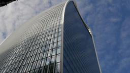 Shot looking up at 20 Fenchurch Street, the skyscraper known as the Walkie Talki Footage